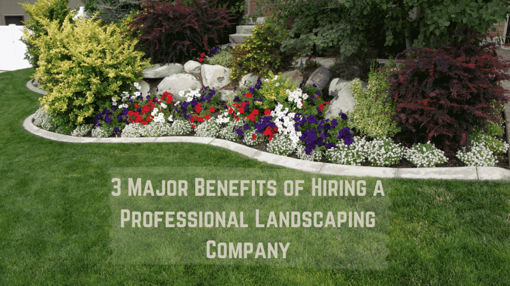 3 Major Benefits of Hiring a Professional Landscaping Company